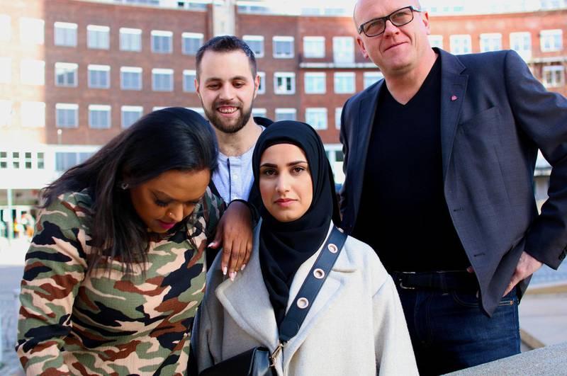 Varaordfører i Oslo Kamzy Gunaratnam, aktivistene Yousef Al Nahi og Faten Al-Hussaini og leder i Oslo Arbeiderparti, Frode Jacobsen, mener islamofobi må tas på større alvor.