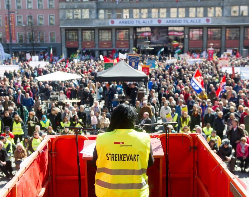 1. mai Youngstorget i Oslo. FOTO: NTB SCANPIX
