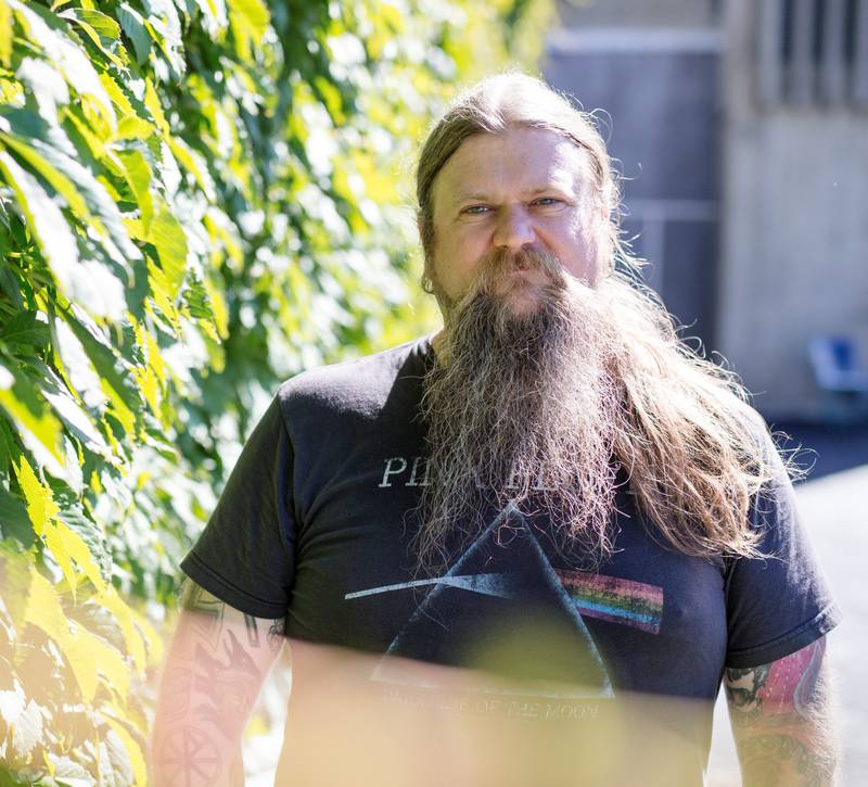 Ivar Bjørnson fra bandet Enslaved inntar den nye vikingfestivalen Midgardsblot i Horten i kveld – da med soloprosjektet Bardspec. FOTO: AUDUN BRAASTAD/ NTB SCANPIX