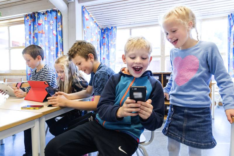 Når en lærer har med seg en småskoleklasse på tur i byen, så har alle elevene gule vester. Den samme ryggmargsrefleksen bør skolen ha når elevene sendes ut på nettet, skriver innleggsforfatterne.
