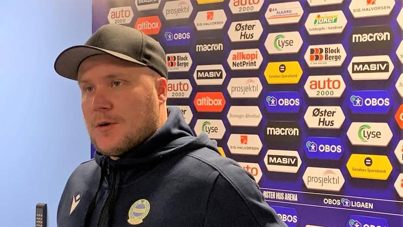 Steffen Landro etter sitt første hjemmetap som Ulf-trener. Foto: Kristoffer Knutsen
