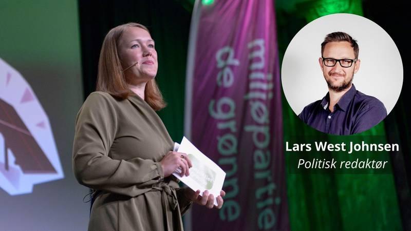 Partileder Une Bastholm under MDGs valgvake på Sentralen mandag. Hun får fire nye år på Stortinget, men kvelden var en stor nedtur.