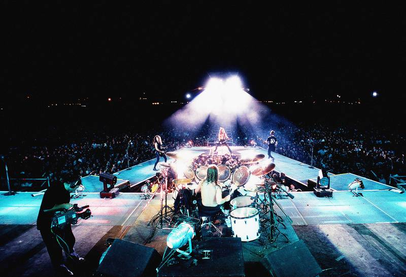 """Metallica på turneen etter """"The Black Album"""", som også tok dem til Oslo, og den største konserten vi hadde sett innendørs til da."""