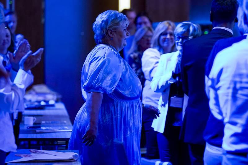 Statsminister og partileder  Erna Solberg presenterer Høyres største valgløfter for stortingsvalget 2021.