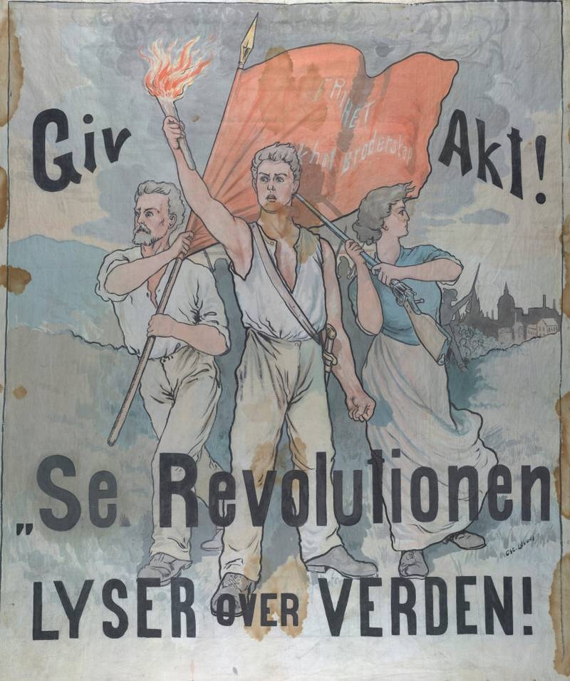 Revolusjonsfanen fra Rjukan er et nasjonalt klenodium som vises fram i utstillingen «100 år med frykt og glød: Norge og Den russiske revolusjon» på Norsk Industriarbeidermuseum på Vemork. Den ble laget i 1919 med inspirasjon fra den russiske revolusjon.