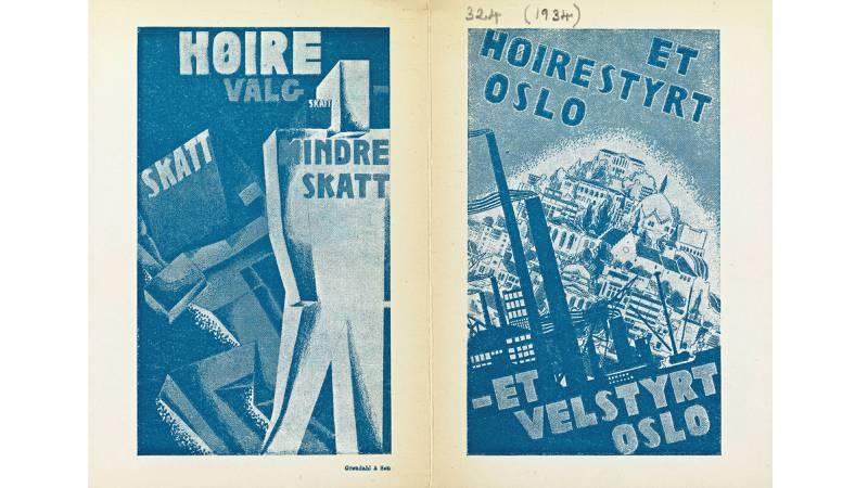 Også i deler av mellomkrigstida var Oslo høyrestyrt, med et Ap i opposisjon som jobbet for å fravriste dem makten. FOTO: Nasjonalbiblioteket, plakatsamlingen