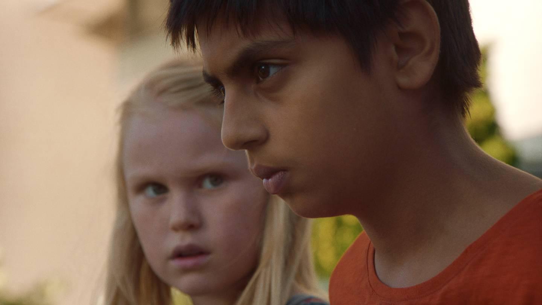 Fra Eskil Vogts spillefilm «De uskyldige», her med barneskuespillerne Sam Ashraf og Rakel Lenora Fløttum