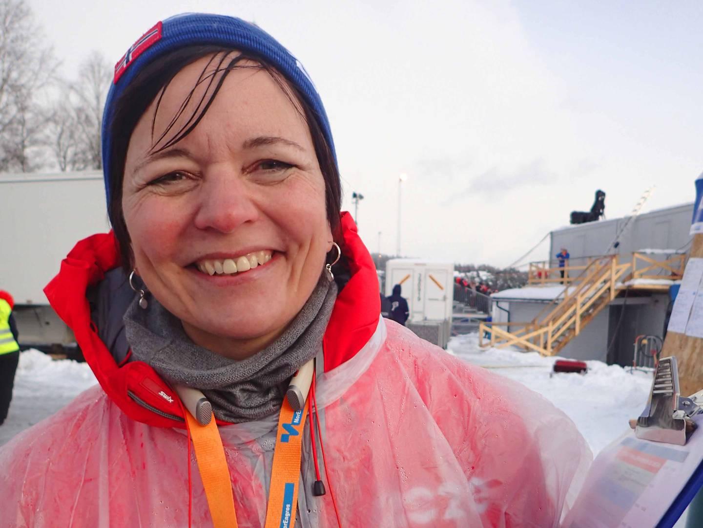 Elvefestivalen-sjef Louise Winness Prestgard. Her under Skisprinten i fjor.