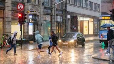 Uværet fortsetter – Kraftig regn på Østlandet mot helgen