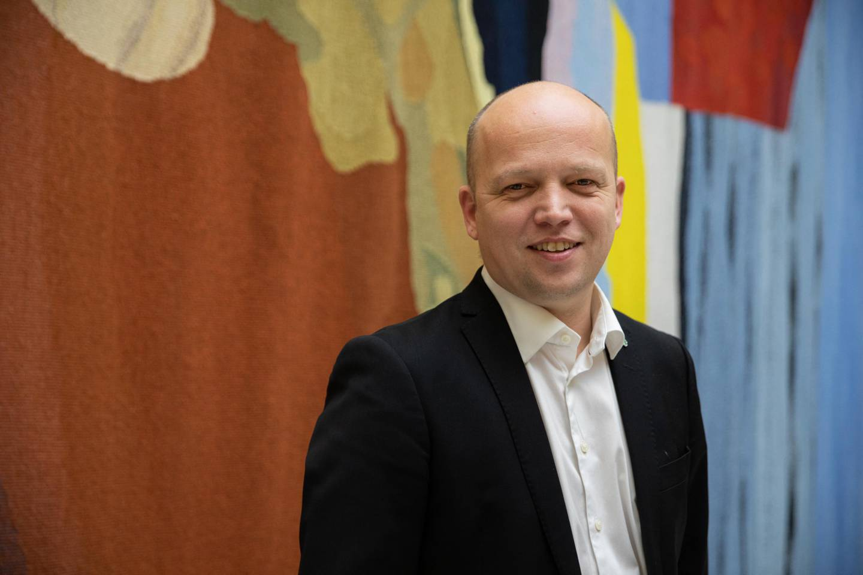 Trygve Slagsvold Vedum, bonde og leder for Senterpartiet.