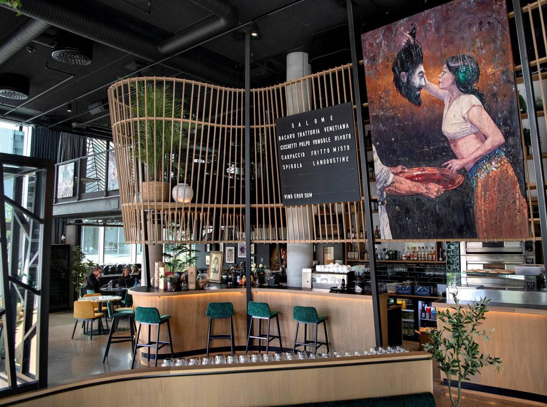 Restaurant Salome i Bjørvika bringer på dramatisk vis det venezianske kjøkkenet til Oslo. Foto: Mimsy Møller/Byløvene
