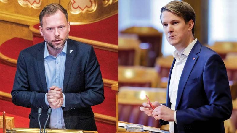 Audun Lysbakken (SV) og Torstein Tvedt Solberg (Ap) reagerer sterkt på Dagsavisens saker.