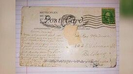 Fikk postkort som var sendt for nesten 100 år siden