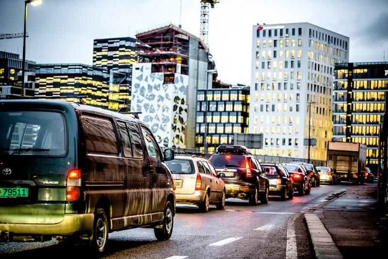 Stopp med bil i Oslo sentrum fra 2019. FOTO: KRISTER SØRBØ
