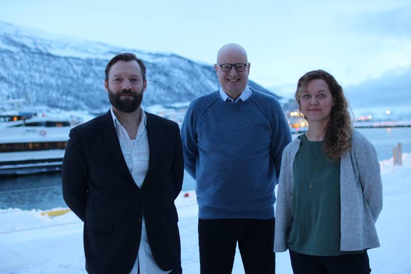 Presenterte handlingsplan for mangfold: Utviklingsdirektør Lars Løge, direktør Sindre Guldvog og seksjonsleder Live Nelmoen fra Norsk Filminstitutt under åpningen av Tromsø Internasjonale Filmfestival,.