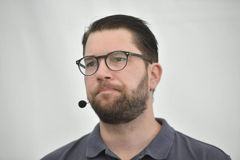 VISBY, SVERIGE 20180706. Jimmie Åkesson, partileder i det svenske partiet Sverigedemokraterna.   Foto: Vilhelm Stokstad/TT NYHETSBYRÅN / NTB scanpix