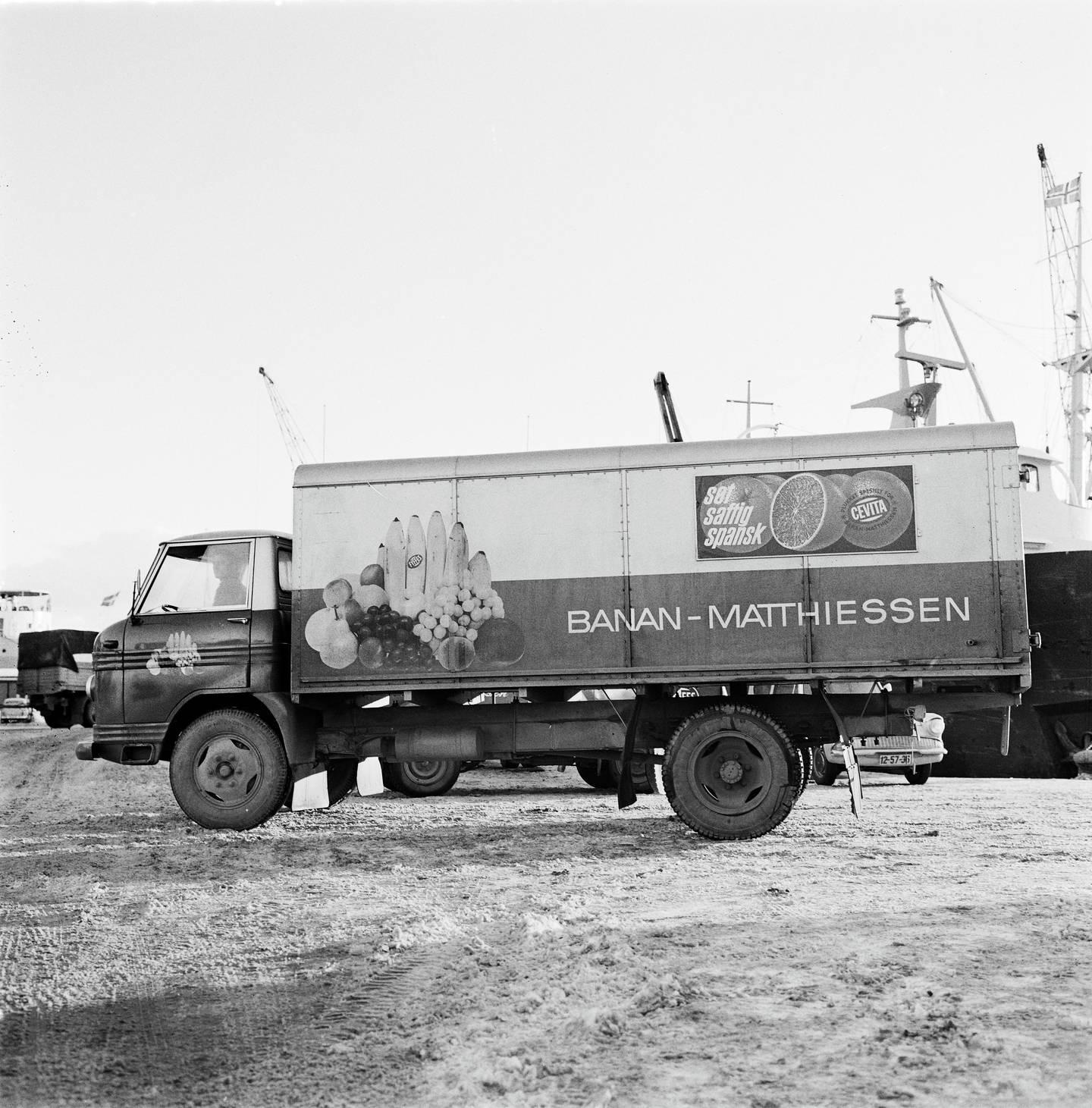 Banan-Matthiessens varebil i 1966.