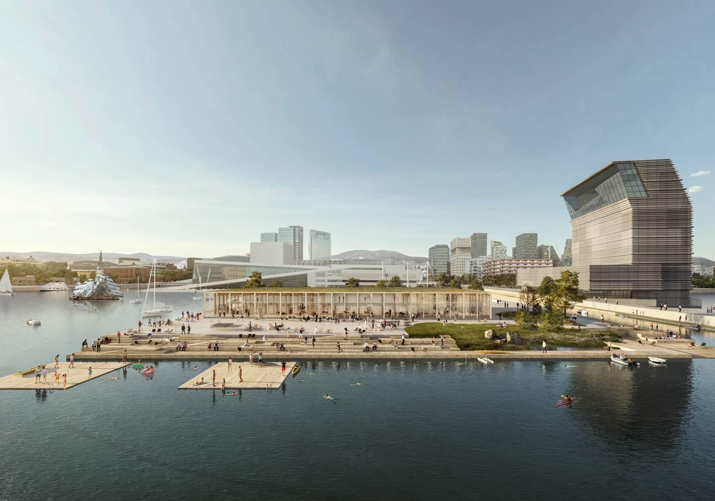 Dette forslaget fra Arkitektkontoret Atelier Oslo vant i 2019 oppdraget om å tegne det nye Fotografihuset på Sukkerbiten. Nå spøker det for planene.