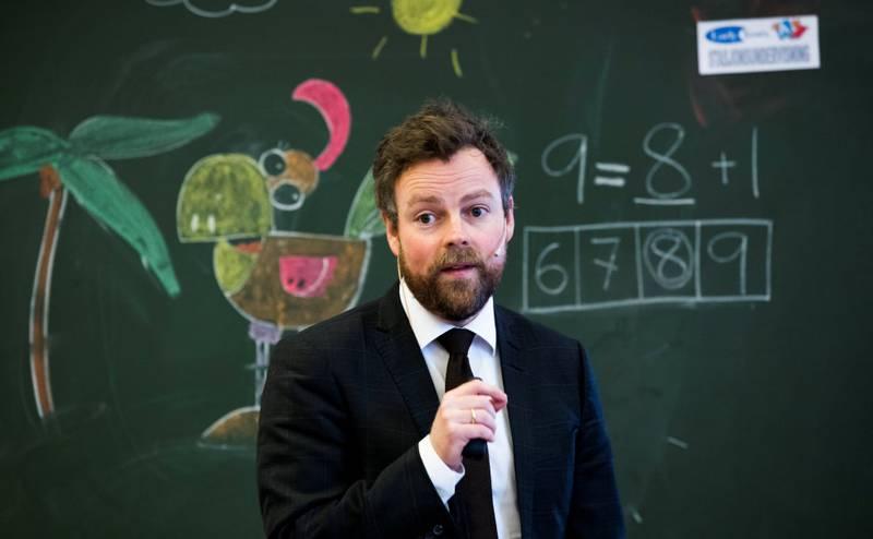 Skolepolitikk: Kunnskapsministeren la fram stortingsmelding om tidlig innsats ved Lakkegata skole tidligere i år. FOTO: BERIT ROALD/ NTB SCANPIX