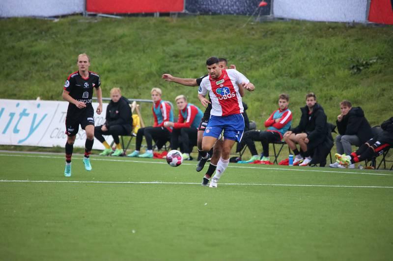 David Tavakoli i aksjon for KFUM mot Fredrikstad.
