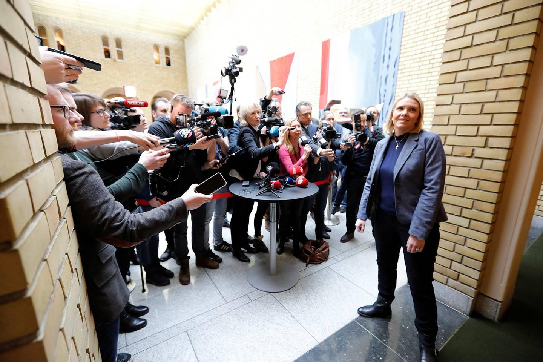 En samlet opposisjon vedtok i går sterk kritikk mot justisminister Sylvi Listhaug torsdag. FOTO: GORM KALLESTAD/NTB SCANPIX
