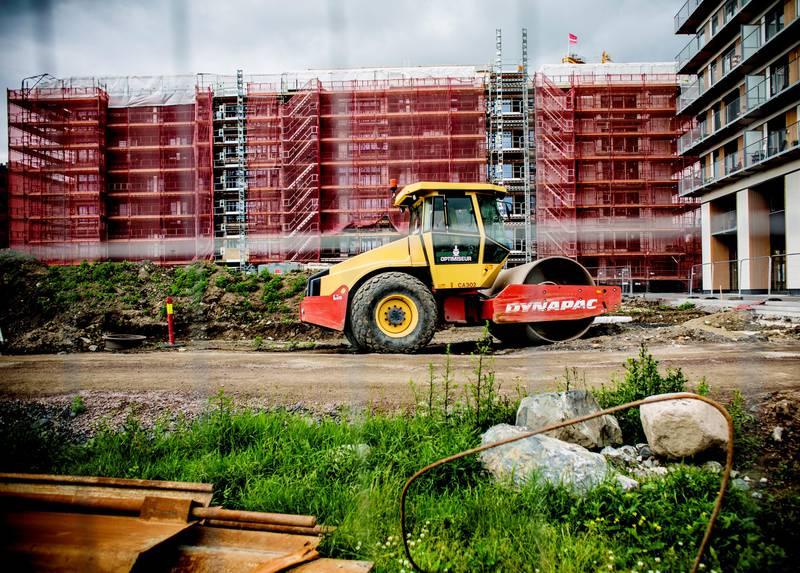 – I Oslo bygges Fjordbyen og områdene Hasle (bildet), Løren og Kværnerbyen, samt svære prosjekter i Nydalen, på Grefsen og på Grünerløkka, ut samtidig. Kommunen er også godt i gang med gigantiske planer for boliger i Hovinbyen og hele den nedre delen av Groruddalen, sier Thomas Bartholdsen. FOTO: FREDRIK BJERKNES