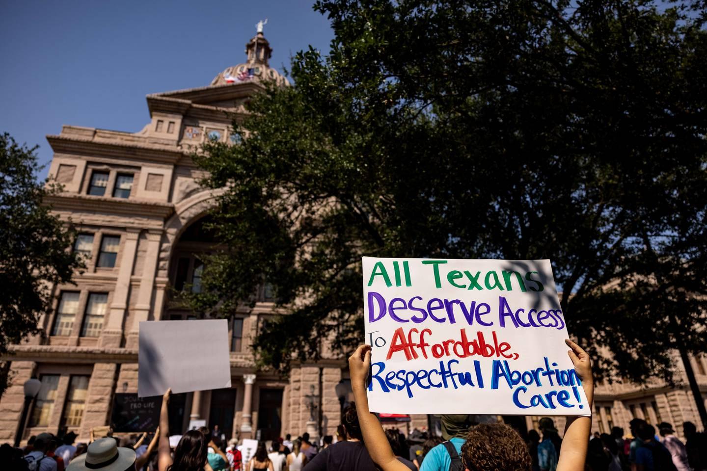Abortforkjempere demonstrerte i Austin mot den nye Texas-loven.