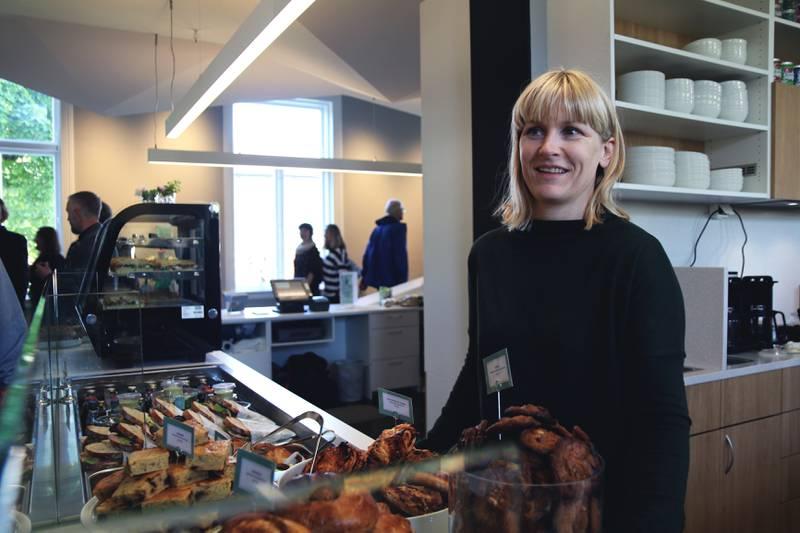 Daglig leder for Matmagasinet, Else Rødland, er fornøyd med nye lokaler i Stavanger museum. Foto: Ingvild Wathne Johnsen