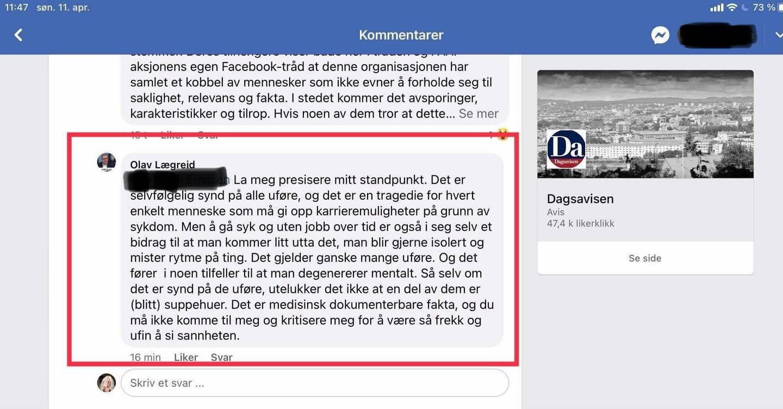 Advokat Olav Lægreid kaller uføre for suppehoder.