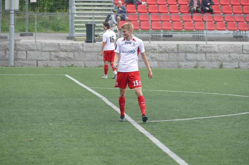 Jens Bonde Aslaksrud scoret to mål til for Ullern i toppkampen mot Rana lørdag.