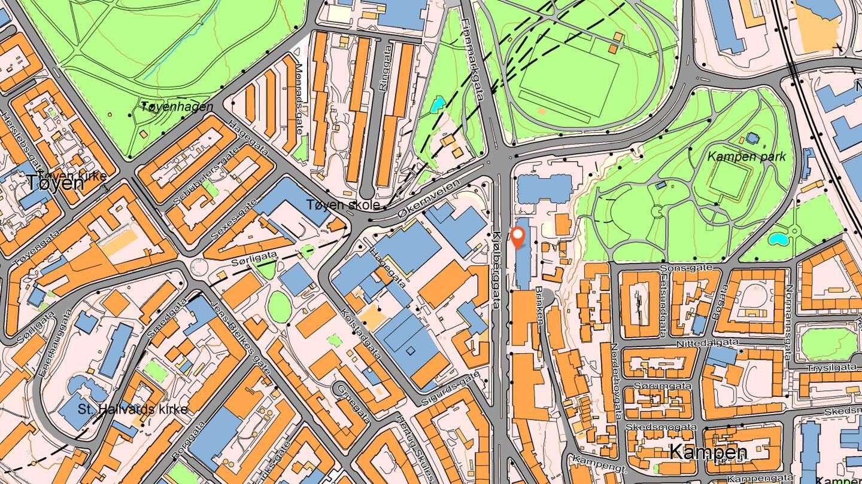Kart over Tøyen