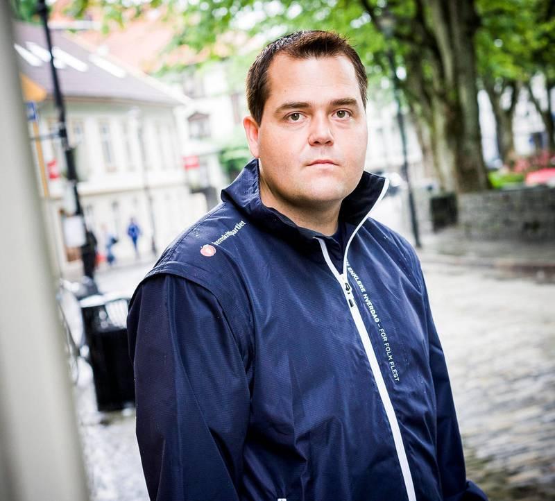 Roy Steffensen (Frp) i finanskomiteen på Stortinget.