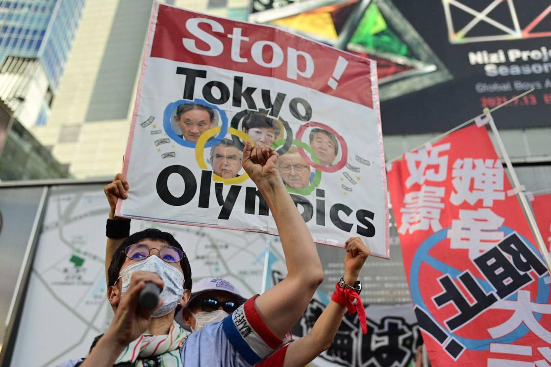 Det har vært flere demonstrasjoner både før og under OL i Tokyo.
