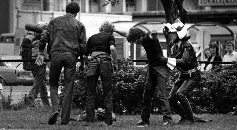 Ransaket: I midten av 1980-årene hardnet det til i narkotikamiljøet som nå oppholdt seg på      den beryktede «Plata». Her fra 1984.