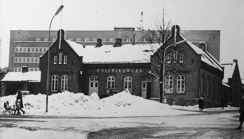 Moss Politikammer - bygget ble revet i 1968