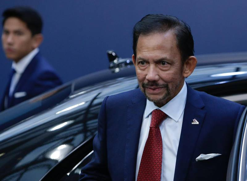 Sultan of Brunei Haji Hassanal Bolkiah arrives for a Asia Europe Meeting (ASEM) at the European Council in Brussels on October 19, 2018. (Photo by Aris Oikonomou / AFP)