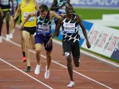 Jakob Ingebrigtsen slått av Timothy Cheruiyot i Diamond League-finalen på 1500 meter