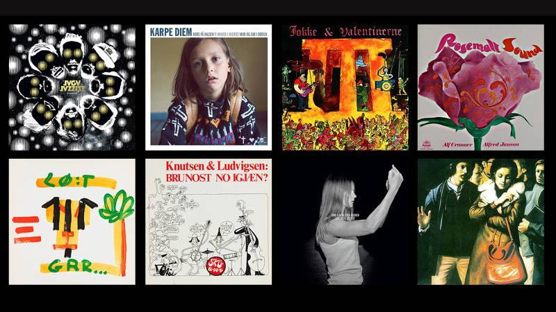 Lørdag åpnes et skattkammer på Kunstindustrimuseet i Oslo. Bla videre for 11 av de norske høydepunktene blant de utstilte LP-coverene.