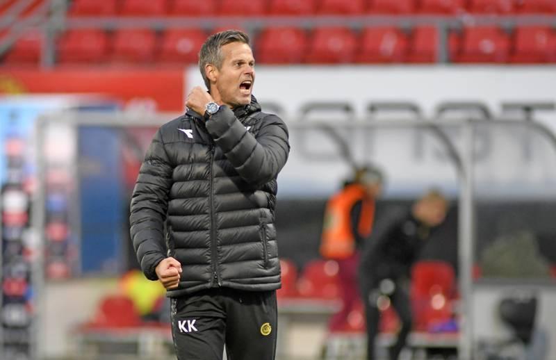 Bodø/Glimts trener Kjetil Knutsen er ønsket som ny trener på Lerkendal. Foto: Rune Stoltz Bertinussen / NTB.