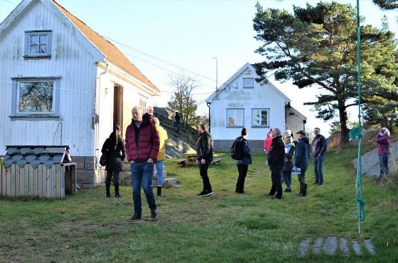 Mange foreninger og organisasjoner ønsket å være med på torsdagen Pynten-befaring sammen med representanter fra Fredrikstad kommune.