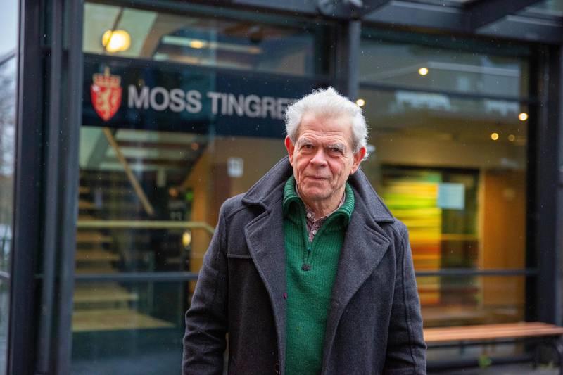 Bedre Byutvikling Moss (BBM) har saksøkt staten og er optimistiske før rettssaken i Moss tingrett. Her ved leder Jonathan Parker.