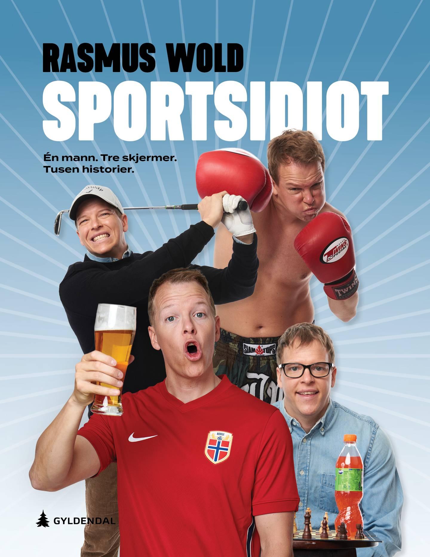 Boka «Sportsidioten» av Rasmus Wold.
