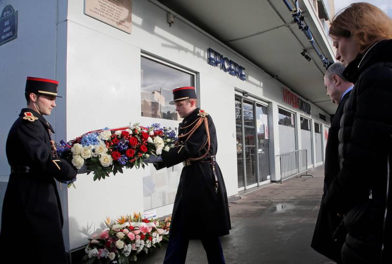 Det var også minnemarkering for ofrene for terrorangrepet mot et jødisk supermarked denne ukaFOTO:  NTB SCANPIX