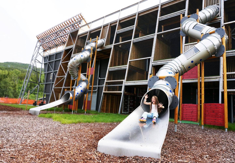 Hallingdal Feriepark byr på et vell av lekemuligheter både ute og inne. FOTO: CHRISTINE BAGLO