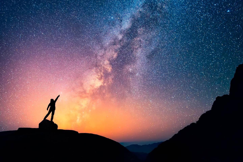 MELKEVEIEN: Omtrent hvor mange stjerner består den av? Foto: Shutterstock
