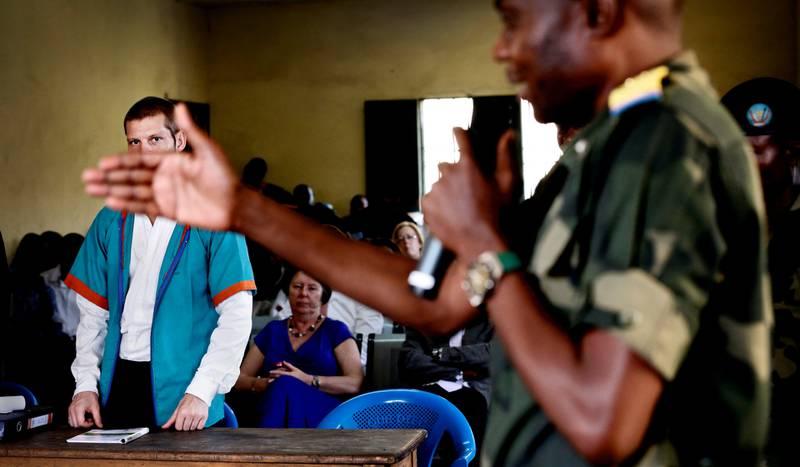Joshua French hevder nå at han og Tjostolv Moland var agenter på oppdrag i Kongo da de ble pågrepet mistenkt for drapet på sjåføren Abedi Kasongo i 2009. I august 2013 ble Moland funnet død på cella. Her fra rettssaken i Kinshasa i 2014 der French var tiltalt for drap på Moland. 17. mai i fjor kom French tilbake til Norge.