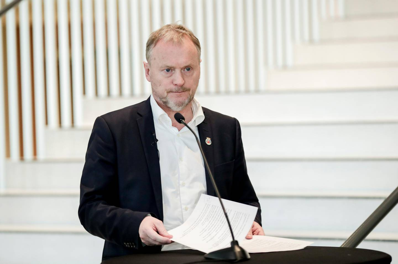 Oslo 20200320.  Byrådsleder Raymond Johansen om skjenkebevilgninger i Oslo. Foto: Vidar Ruud / NTB scanpix
