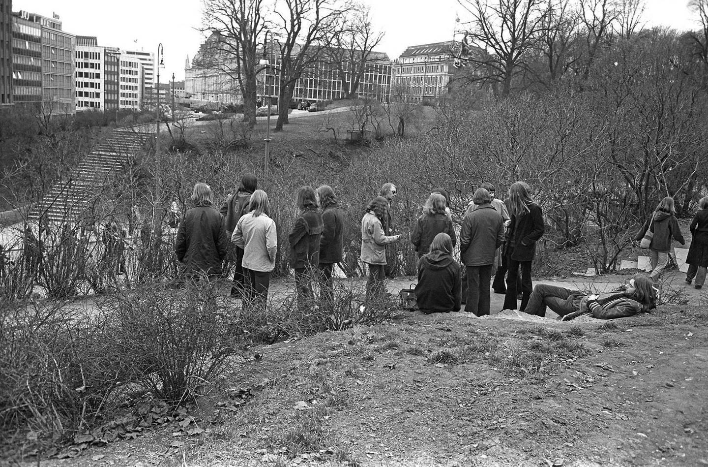 Nisseberget: I 1972 var det fortsatt ganske fredelig i Slottsparken.