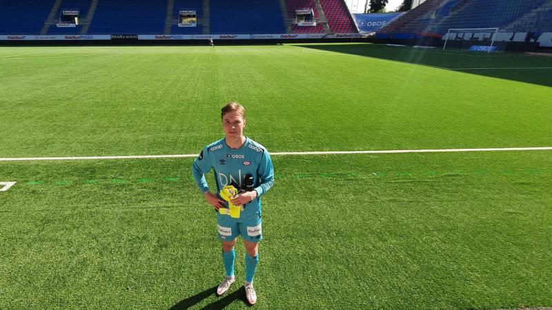 Mathias Dyngeland har ikke kommet til Vålerenga for å sitte på benken, men må danke ut Kjetil Haug i duellen om å være førstekeeper for å få spilletid.