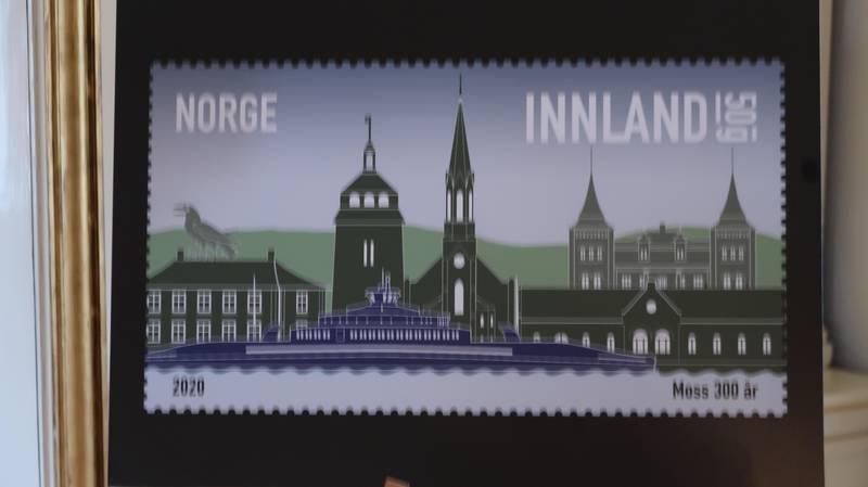 Frimerke fra Moss - 2020. Byens 300 års jubileum.